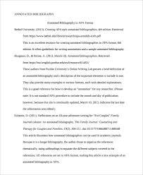 Annotated Bibliography Template Annotated Bibliography Template Apa Template Business