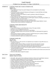 Scheduler Resume Sample Surgery Scheduler Resume Samples Velvet Jobs 9