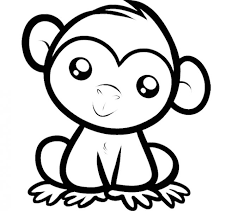 Small Picture Cute Monkey Coloring Coloring Pages