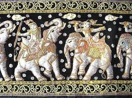 thai wall tapestry two large hanging