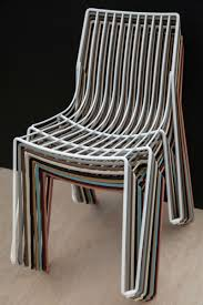wire furniture. Colorful-wire-stacked-chairs Wire Furniture Homedit
