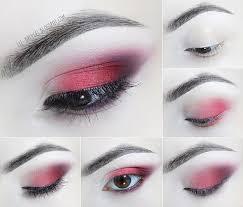 liz breygel makeup step by step tutorial january birthstone red smoky eye gothic goth eye