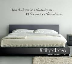 Love Wall Decor Bedroom Bedroom Wall Decor I Have Loved You A Thousand Years Wall