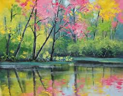 drawn river oil painting 2