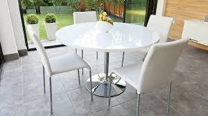 prepossessing round white gloss dining table and white high gloss dining table and 4 chairs aqsinia