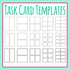 Flashcard Templates Task Card Templates Flash Card Templates Clip Art Set For Commercial Use