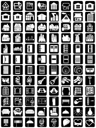 素材集ピクトグラフ住まい編アイコンワンポイントマーク素材集の