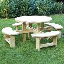 small wooden picnic table wood picnic tables for medium size of furniture round tables fabulous