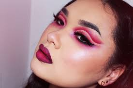 edgy valentine s day makeup look