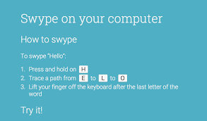 Swype on your computer