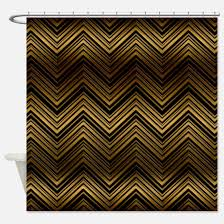 gold chevron shower curtain. dark gold chevron pattern shower curtain i