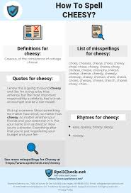 How To Spell Cheesy And How To Misspell It Too Spellchecknet