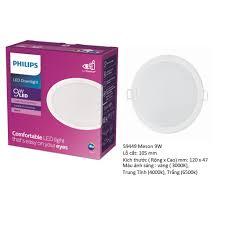 Bộ đèn PHILIPS LED âm trần MESON G3 (594xx)- 5W,6W,7W,9W,13W ánh sáng  (trắng, vàng, trung tính) - Đèn trần Hãng Philips
