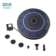 Small Blue Printer Garden Solar Power Birdbath Fountain Pump With Battery Backup 2 5w Brushless Anti Blocking Submersible Pump Panel Kit For Bird Bath Garden Small Pond