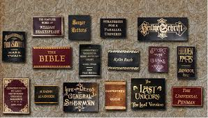 custom leather book labels