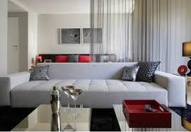 apartment studio decorating idea grey sofa red couches homes