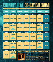 30 Day Beachbody Challenge Chart Country Heat Workout Calendar Exclusive Tips The