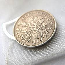 wedding sixpence lucky charm bridal gift something old something new something borrowed