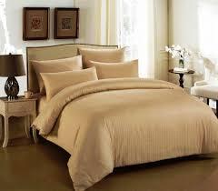 cannon king size cotton stripe pattern beige bedding sets