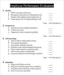 Employee Review Sample Mesmerizing 48 Sample Employee Review Forms Sample Forms Metalrus