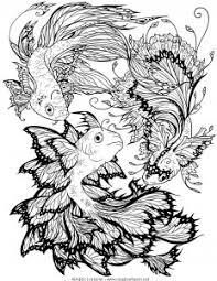 Clownfish, fringetail, pike, shark, eel, haddock, atlantic salmon, marlin, yellow perch, roach, tench, carp, atlantic mackerel, halibut, foureye butterflyfish. Fishes Coloring Pages For Adults