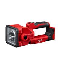 Milwaukee M18 Flood Light Home Depot Milwaukee M18 18 Volt 1250 Lumens Lithium Ion Cordless Search Light Tool Only