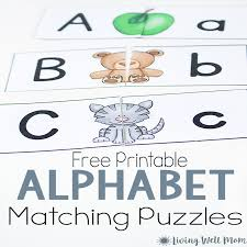 Uppercase Lowercase Letter Matching Puzzle for Preschoolers {Free ...