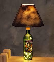 Wine Bottle Lamp Idea