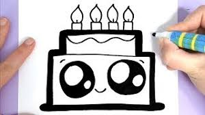 How To Draw A Cute Birthday Cake Easy скачать видео