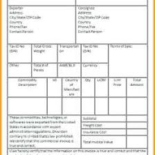 Pdf Commercial Invoice Form No Commercial 393429974878 Example Of