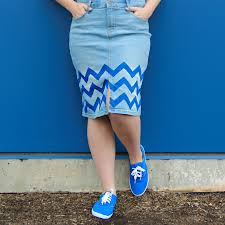 picture of quick chevron stencil skirt