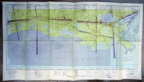 New Orleans Sectional Chart New Orleans Sectional Aeronautical Chart Map 1945 La On