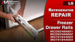 lg refrigerator drawer replacement. lg refrigerator - drawer will not open freezer rails lg replacement f
