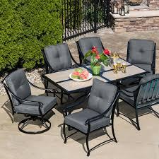 La Z Boy Outdoor Emerson 7 Pc Dining Set Graphite