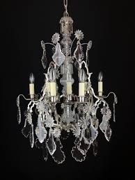a silvered gothic style chandelier picture 1