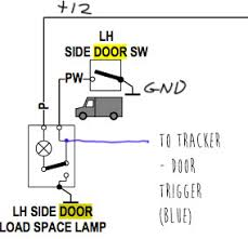 cheap gps tracker model tk103a my review and installation blue wire shows the new connection from the door switch to the tracker input note that the negative door trigger input is used since the switch goes to