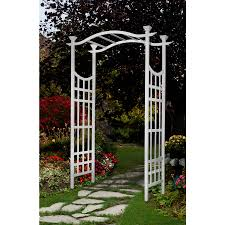 garden arbor lowes. Lowe\u0027s Garden Arch ($50) New England Semi-Gloss White Arbor 53\ Lowes .