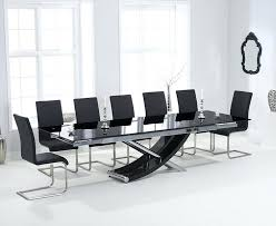 black glass dining table set nice extendable glass dining table set fascinating black extendable dining table