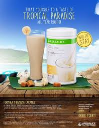 shake breakfast herbalife banana caramel