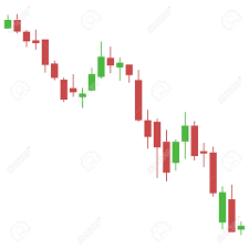 Stock Chart Art Candlestick Chart Down Trend Of Stock Chart Graphical Analysis