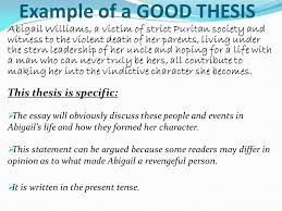 character analysis write a character analysis of abigail williams  4 example