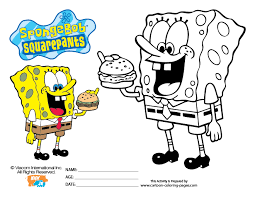 Small Picture Squarepants Coloring Pages Spongebob Page Maybe Bebo Pandco