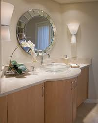 Round Bathroom Mirror With Shelves