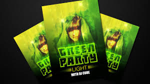 Green Party Flyer Easy Photoshop Tutorial Make Green Party Poster Design