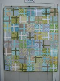Modern Baby Boy quilt using plus quilt block or cross quilt ... & Nest and House baby quilt Adamdwight.com