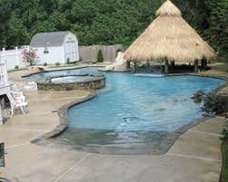 fiberglass pools with beach entry. Delighful Fiberglass Pool With Tiki Hut With Fiberglass Pools Beach Entry