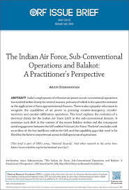 The Indian Air Force Sub Conventional Operations And