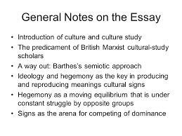 from culture to hegemony ppt video online  general notes on the essay