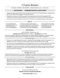 Executive Secretary Resume Examples Impressive Secretary Sample Executive Assistant Resume Fantastic Templates