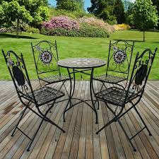 add a romantic touch to your garden patio or balcony with this mosaic bistro set it will be a great pleasure to with your friends or have a